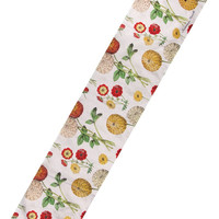 """Manual Woodworkers Gallic Rooster Floral 13x72"""" Table Runner with 6-Pack of Tea Candles"""