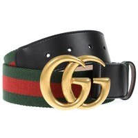 Gucci Belt % Made In Italy Woman Green 409416HE21T-8476