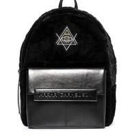 Third Eye Fuzzy Leather Backpack