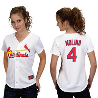 St. Louis Cardinals Yadier Molina Women's Player Replica Jersey by Majestic Athletic