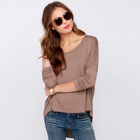 Simple Design Knit Pullover Tops Bat T-shirts [6331544836]