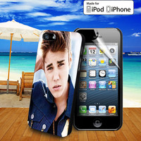 Justin Bieber case for iPhone 5, 5S, 5C, 4, 4S and Samsung Galaxy S3, S4 and ipod Touch 5
