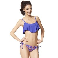 Target : Juniors 2- Piece Handkerchief Bandeau Swimsuit : Image Zoom