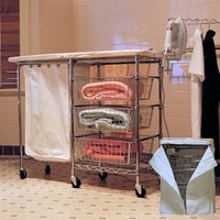 Mobile Complete Laundry Center (44x15) Fold-Away Ironing Board - Creative Homewares #MLC-01