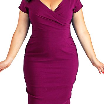 norma jean Plus Size Dress Bodycon Pencil Dress Knee Length wiggle rockabilly Party