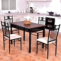 Modern Kitchen Dining Table With  Four Chairs
