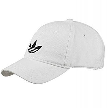 adidas Men's Originals Adicolor Trefoil Cap OSFM White-Black