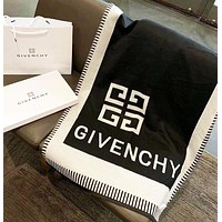 Givenchy new autumn and winter letter shawl cashmere jacquard double-sided scarf