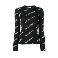 balenciaga Fashion Letter Pullover Sweater