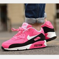 Tagre™  NIKE AIR MAX Women fashion sneaker sports shoes black pink red H-MDTY-SHINING