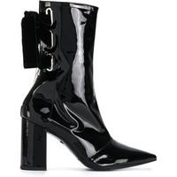 robert clergerie black leather patent mid calf boots - Google Search