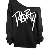 Anarchy Party - Black Slouchy Oversized CREW Sweater