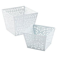 Square Brocade Bins