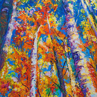 Redemption - fall birch and aspen Painting by Talya Johnson - Redemption - fall birch and aspen Fine Art Prints and Posters for Sale