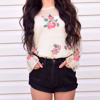 Just Like a Flower Sweater - Back in Stock