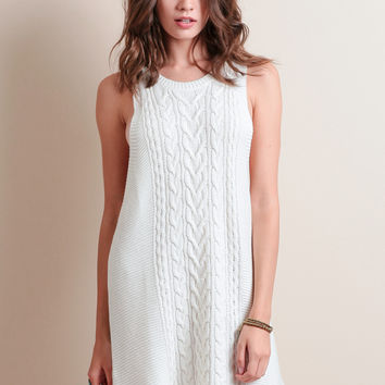 Electric Cable Knit Dress By Somedays Lovin