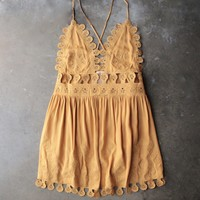 final sale - honey punch - summer lace mini dress - chloe yellow