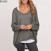 Pullover Batwing Long Sleeve Casual Loose Sweater