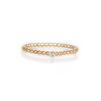 14kt Gold Diamond Point Eternity Ring