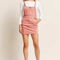 Corduroy Pull-Ring Overall Dress