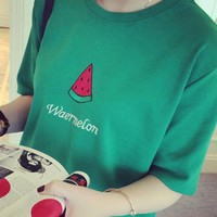 Day-First™ Watermelon Printed Green T Shirt