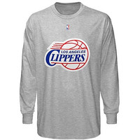 Los Angeles Clippers Majestic Big & Tall Primary Logo Long Sleeve T-Shirt - Gray