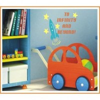 Alphabet Garden Designs To Infinity and Beyond Wall Decal - child027 - All Wall Art - Wall Art & Coverings - Decor