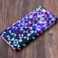 Violet Geometric Design iPhone 6s Case/Plus/5S/5C/5/4S Case #534