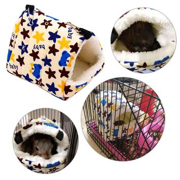 Cute Small Animal Cages Pet Rabbit Hamster House Bed Rat Qquirrel Guinea Winter Warm Hanging Cage Hamster Nest