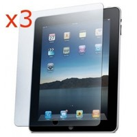 For Apple Ipad 2 New Premium Reusable Screen Protector with Cleaning Cloth (pack of 3)