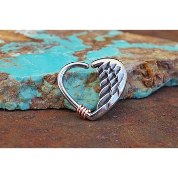 Angel Wing Daith Rook Hoop Heart Tragus Cartilage Helix