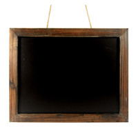 Antique Brown Wood Frame Chalkboard - 19-in