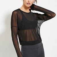 Mesh Drop-Sleeve Athletic Top