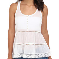 Graham and Spencer Henley White Tank Top