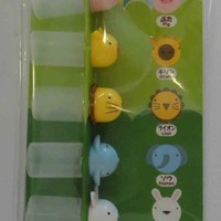 Cute Animal Bento Lunchbox Japanese Sauce Containers / Bottles With Syringe - Pig, Giraffe, Lion, Elephant, Bunny Rabbit, Chicken