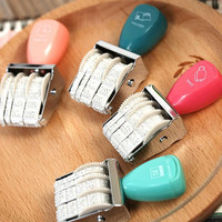 DIY Cute kawaii Plastic Date Stamps Wheel Rubber Dater Stamp for 2015-2026 Office Supplies Korean Stationery Free shipping 052