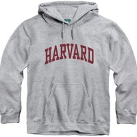 Harvard University Classic Hooded Sweatshirt (Heather Grey)
