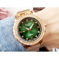 Rolex Tide brand women's diamonds high-end wild quartz watch Gold