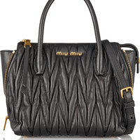 Miu Miu - Trapeze mini matelassé leather shoulder bag