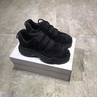 """""""Balenciaga"""" Fashion Simple Solid Color Thick Bottom Sneakers Women All-match Casual Running Shoes"""