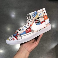 NIKE BLAZER LOW PRM stitching low-top classic casual sneakers shoes