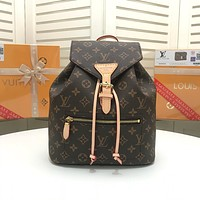 LV Louis Vuitton Couple Shoulder Bag Student Bag Lightwight Backpack   Womens Mens Bag Travel Bags