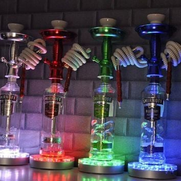 hookah shisha led light base water pipe accessoires lights with remote control for KTV Bar DJ Smoking