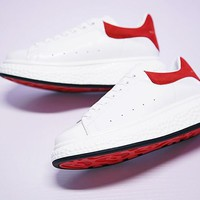 Alexander McQueen sole sneakers White&Red M267