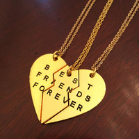 Best Friends Forever Necklace Set in Gold