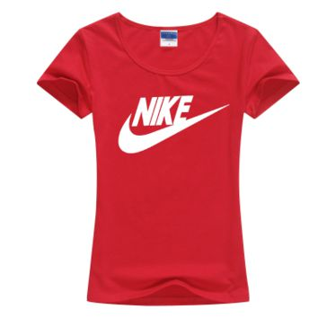 """Nike"" Women Simple Casual Classic Letter Print Round Neck Short Sleeve Cotton T-shirt"