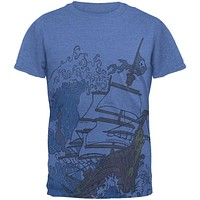 Pirate Ship Wave Mens T Shirt