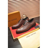 LV Louis Vuitton Men's Business Recreation Leather Shoes