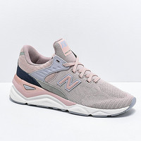 New Balance Lifestyle X90 Au Lait & Arctic Sky Knit Shoes | Zumiez