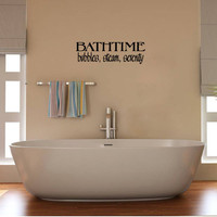 Bath Vinyl Wall Words Decal Sticker